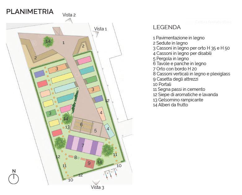 Mappa del Giardino Incredibile de I Viali Shopping Park